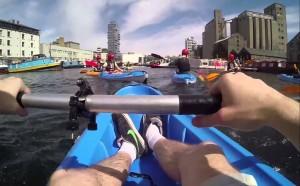 Kayak en el Rio Liffey
