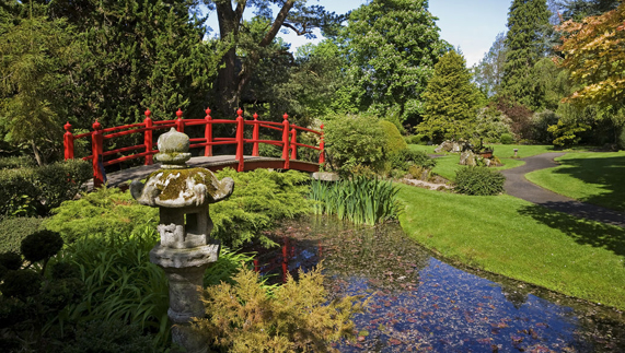 Los jardines japoneses en el National Stud, Condado de Kildare