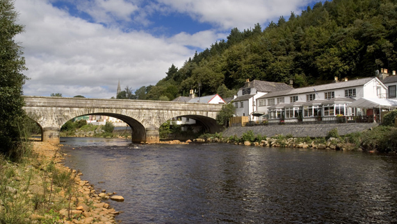 The village of Avoca, County Wicklow