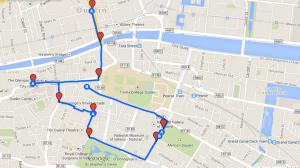 Mapa del recorrido: Día 1