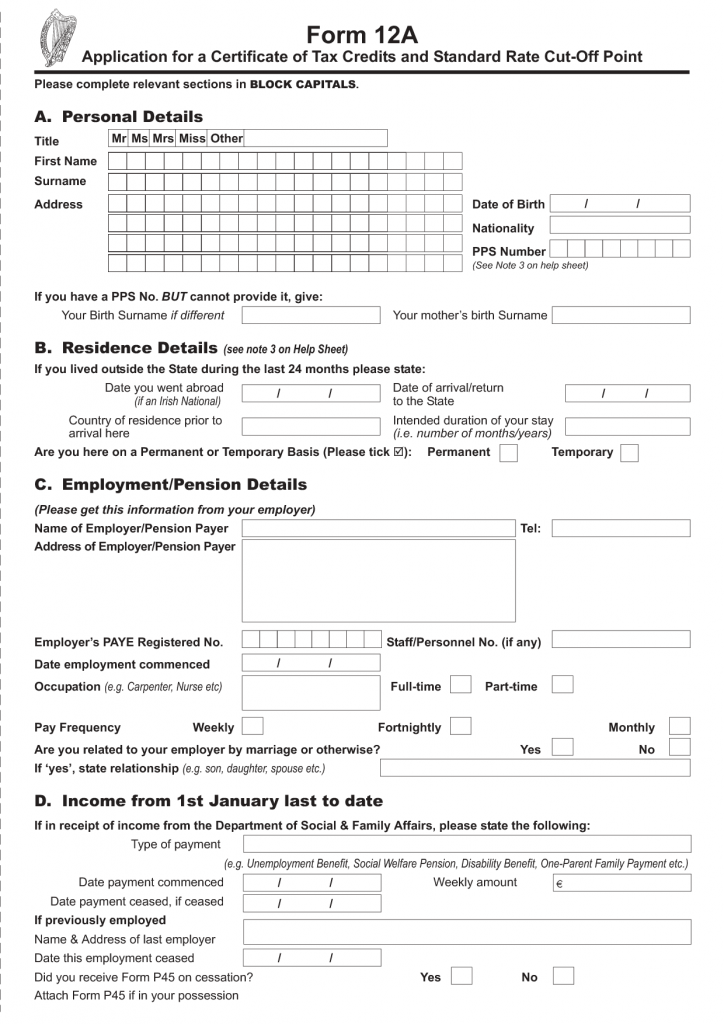 Form 12A