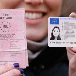 Licencia de conducir en Irlanda